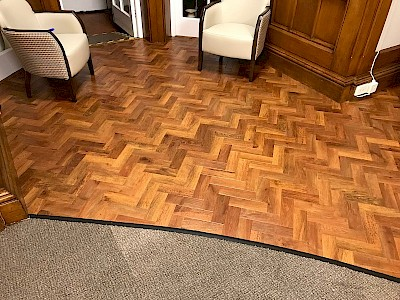 Historic Hall gets Karndean Parquet Flooring Make Over