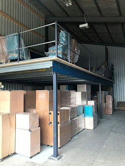 SafeContractor Accredition Received & New Storage Mezzanine Installed